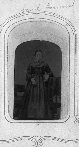 Photo of great grandmother Sarah courtesy of newly encountered distant cousin Donald Harwood Caudill who was kind enough to send it to us...  Hey, Sandy: notice his middle name... and the family resemblance between Payne grandchildren and Sarah (Charles' mother)!